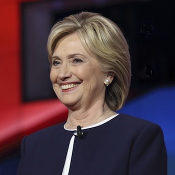 Hillary Clinton at Wynn Las Vegas in the first CNN Democratic Debate, October 12, 2015.