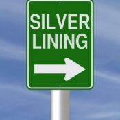 Silver lining sign
