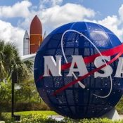NASA Kennedy Space Center Entrance in Florida