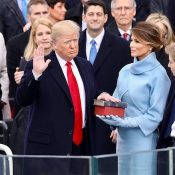 President Donald J. Trump sworn in by Chief Justice John Roberts.