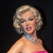 A waxwork of Marilyn Monroe at The Madame Tussauds museum in Las Vegas