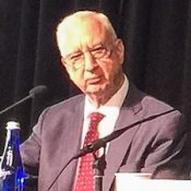 Chief Judge Paul Michel (ret.), at the Newseum on March 27, 2017.